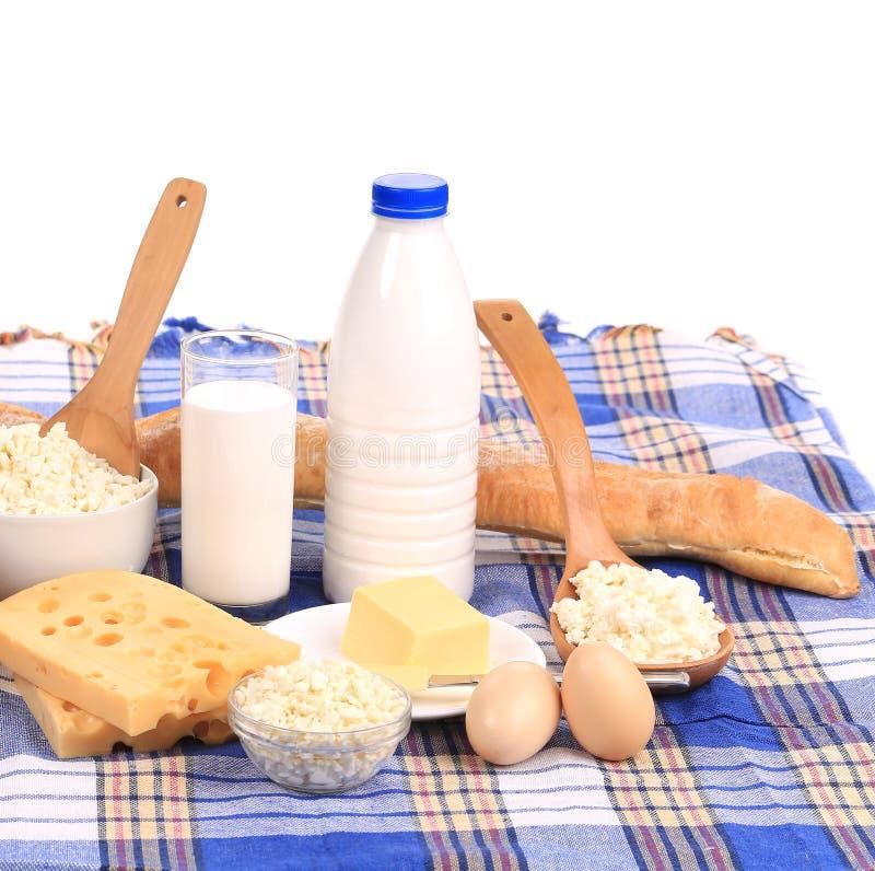 Produit laitier. images libres de droits