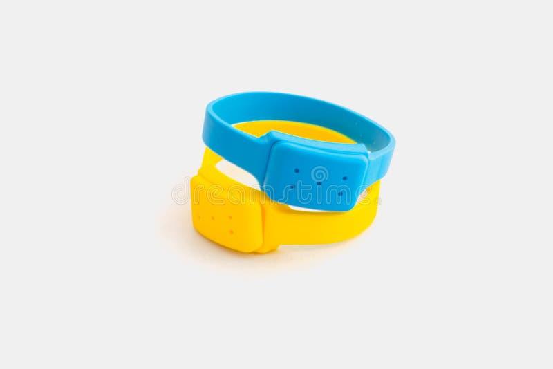 Produit répulsif de moustique de bracelets de silicone photo libre de droits