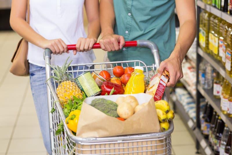 Download Produits Alimentaires De Achat De Couples Lumineux Image stock - Image du chariot, épicerie: 56487517