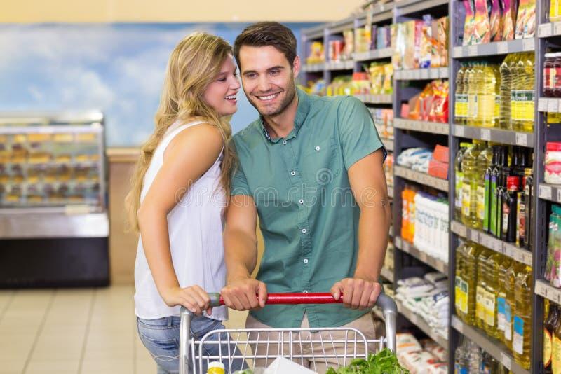 Download Produits Alimentaires De Achat De Sourire De Couples Lumineux Image stock - Image du côté, activités: 56487385