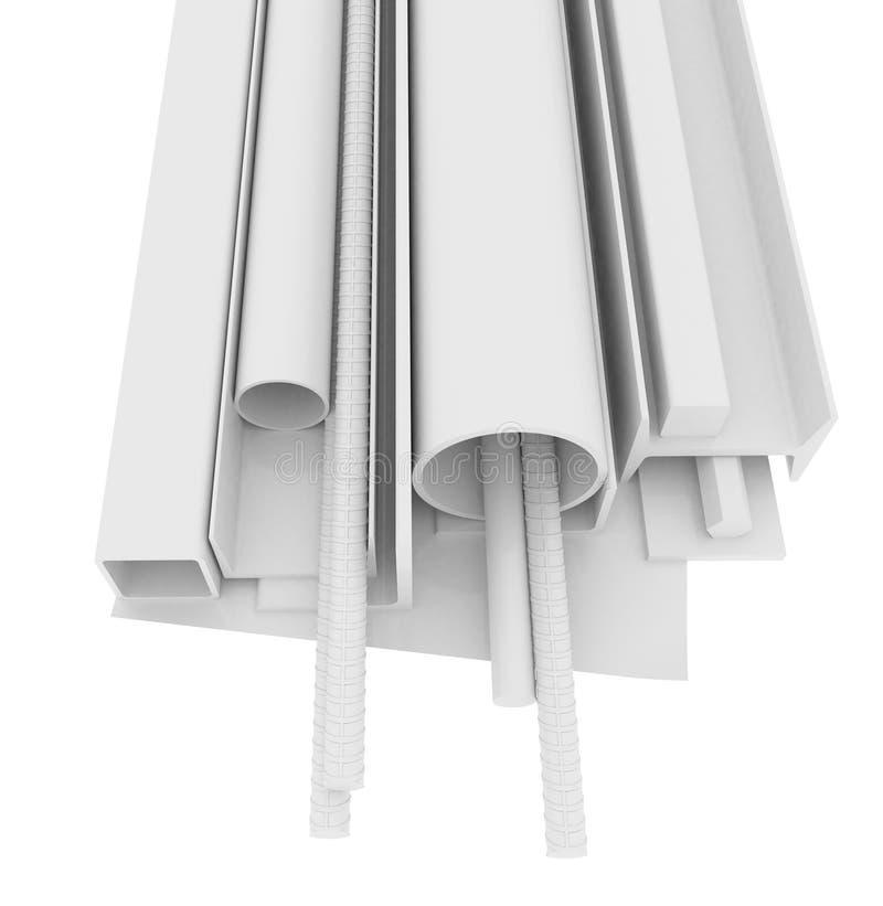 Produits blancs d'acier inoxydable, d'isolement photos libres de droits