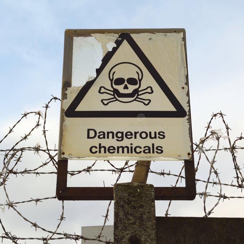 Produits chimiques dangereux photo libre de droits