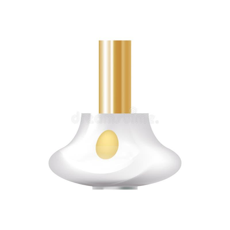 Produits cosmétiques réalistes Belle bouteille en verre figurée, avec le parfum parfumé illustration libre de droits