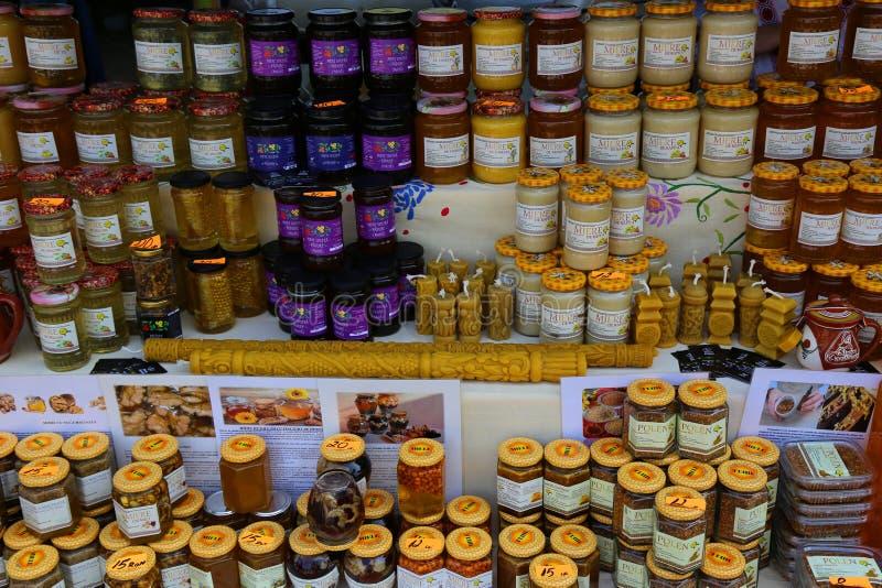 Produits d'abeille photographie stock libre de droits