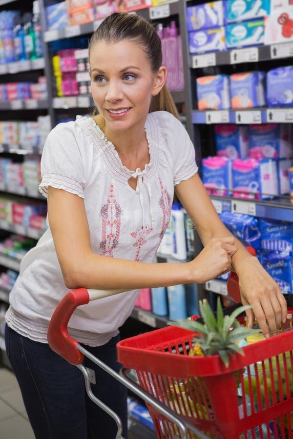 Download Produits D'achat De Femme Avec Son Chariot Image stock - Image du propriétaire, supermarché: 56489373