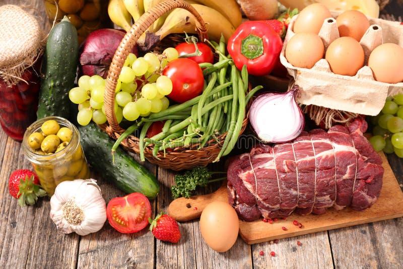 Produits d'aliment biologique photos libres de droits