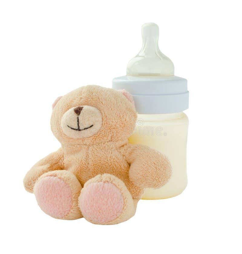 Produits de bébé sur le fond blanc photos libres de droits