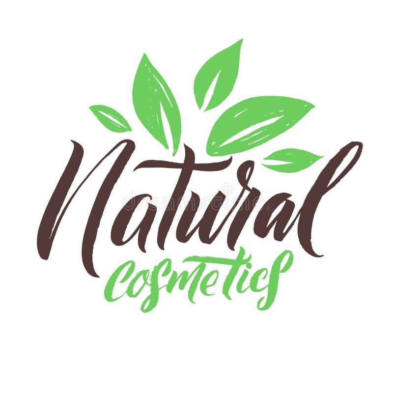 Produits de beauté normaux Logo Beauty Vector Lettering Calligraphie faite main faite sur commande illustation de vecteur illustration libre de droits