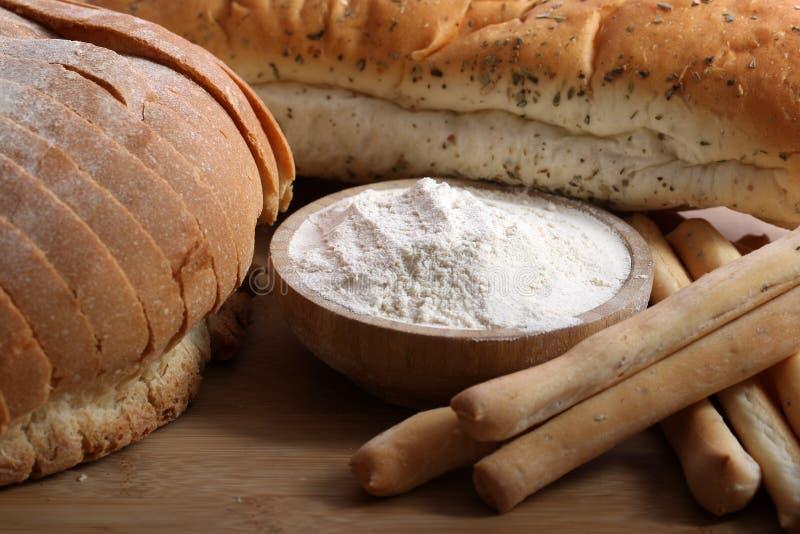 Produits de farine de blé photos stock