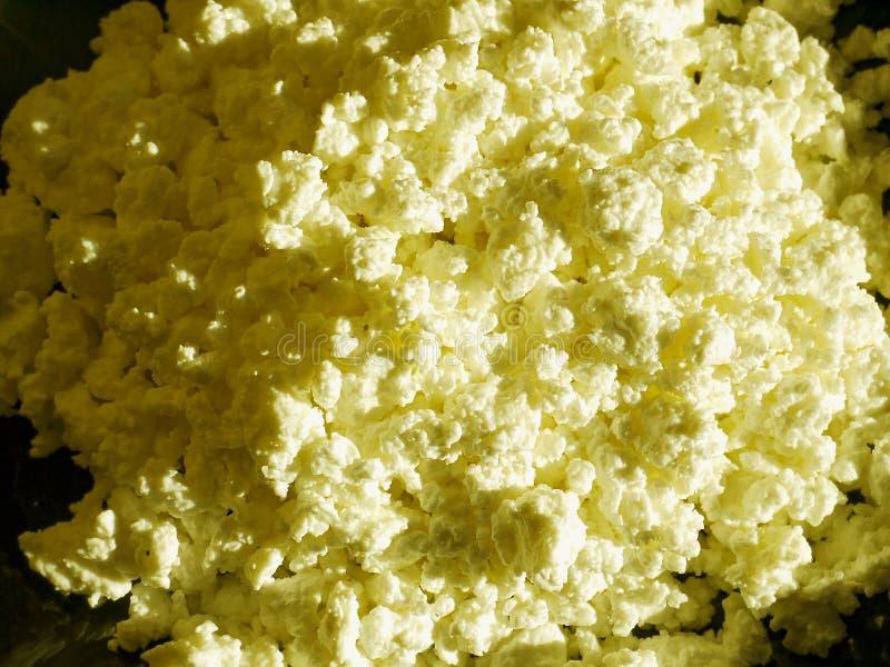 Produits de la ferme organiques purs de lait et d'aigre-lait sur la table photographie stock