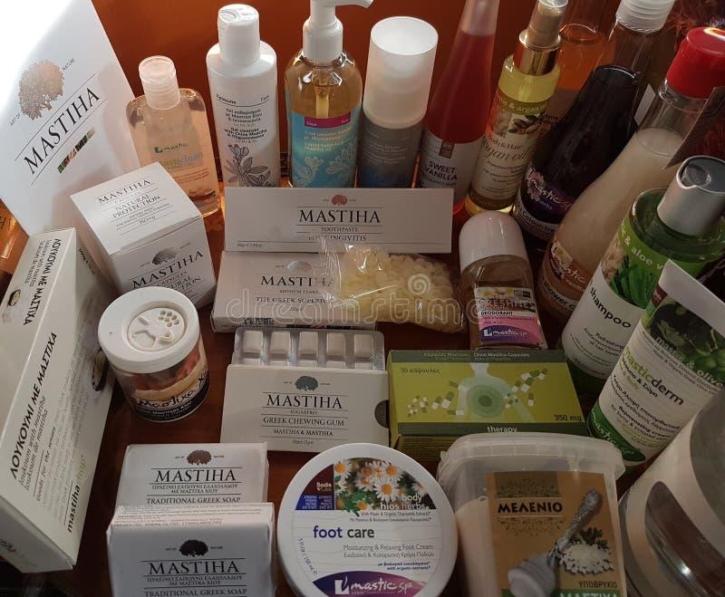 Produits de Masticha photos stock