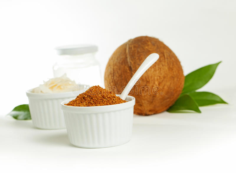 Produits de noix de coco image libre de droits