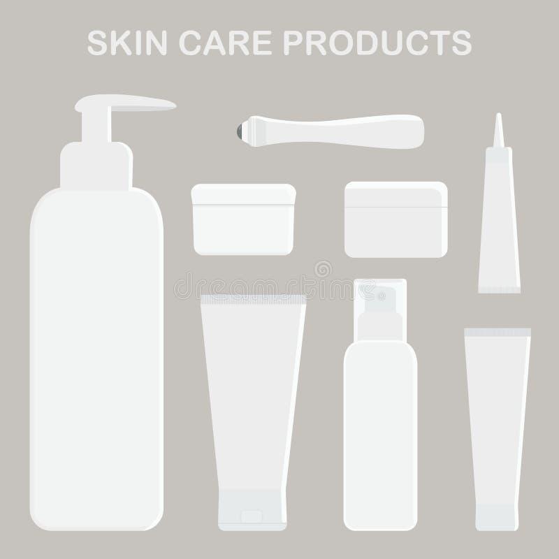Produits de soin pour la peau Crème pour les yeux, le visage et le corps illustration libre de droits