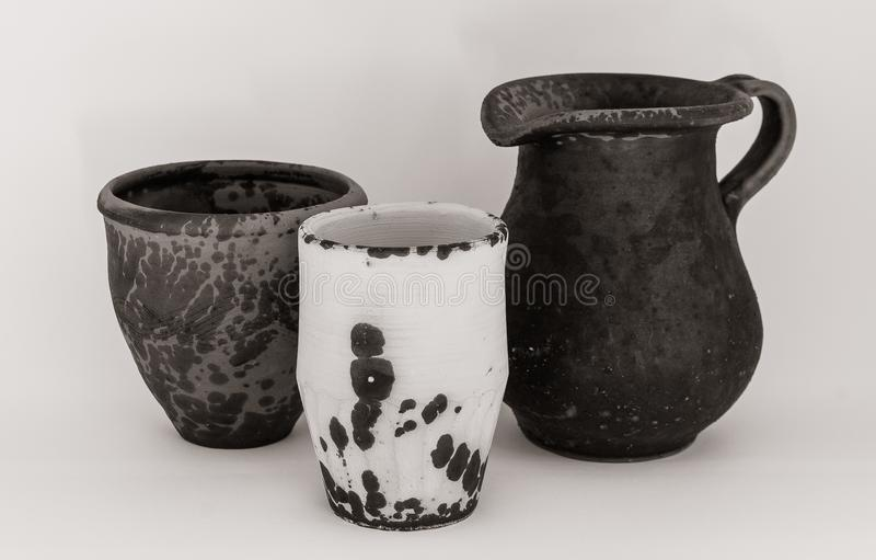 Produits en céramique faits main de différentes catégories photo stock