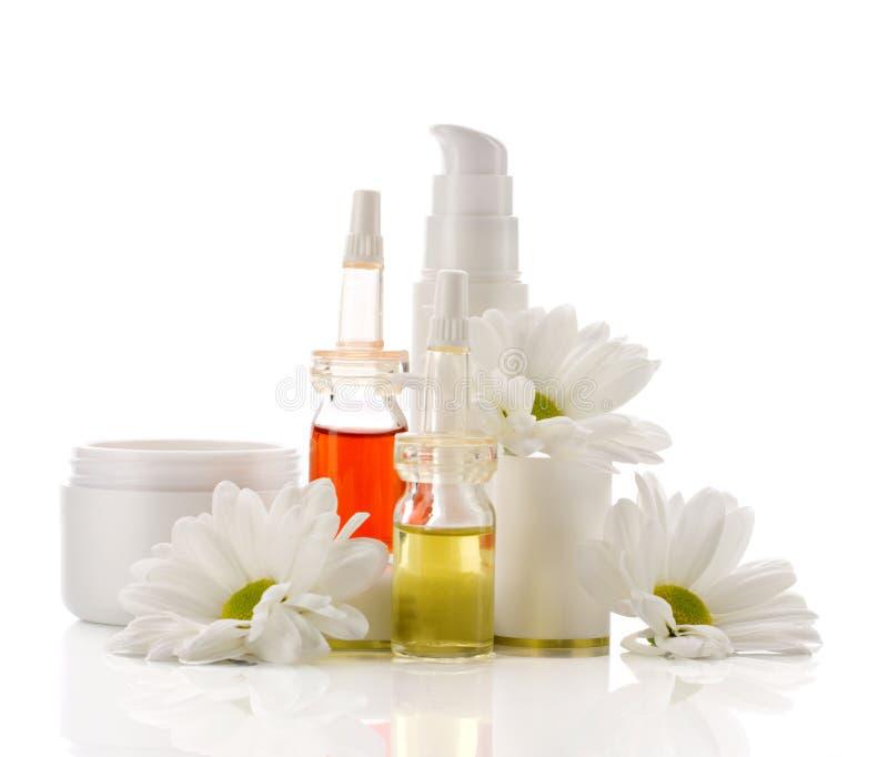 Produits faciaux naturels de cosmétiques image libre de droits