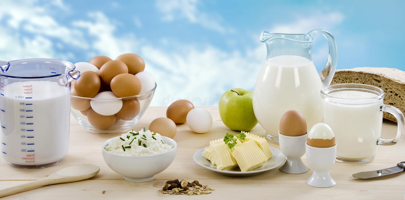 Produits laitiers images stock