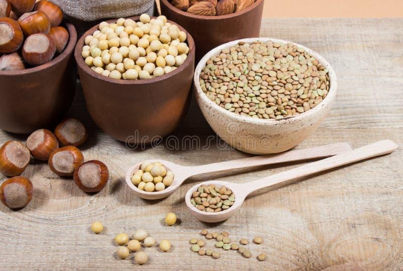 Download Produits Naturels Contenant Les Protéines Végétales Photo stock - Image du source, végétarien: 76082418