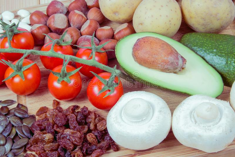 Produits Naturels Riches En Potassium K Concept Sain De..