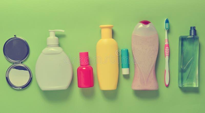 Produits pour la beauté, l'auto-soin et l'hygiène photographie stock libre de droits