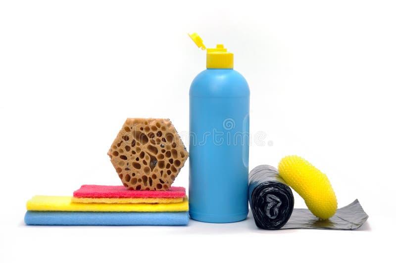 Produits pour la propreté images stock