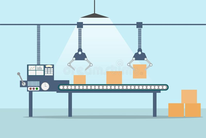 Produkci przemysłowa linia również zwrócić corel ilustracji wektora ilustracja wektor