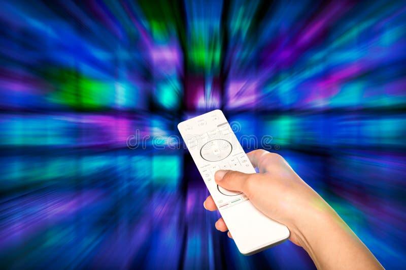 Produkci telewizyjny pojęcie TV filmu panel zdjęcie stock