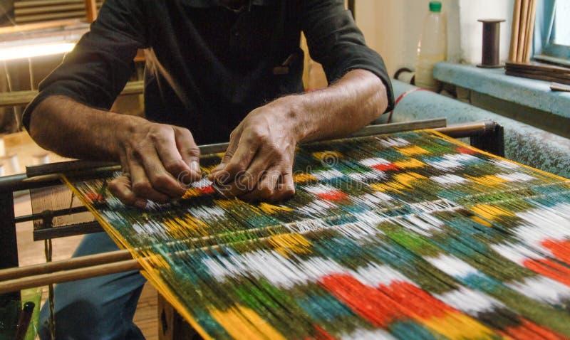Produkcja i tkactwo dywany i tkaniny zdjęcia stock