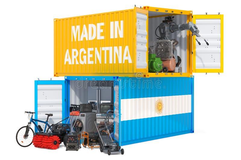 Produkcja i wysyłka elektroniczny i urządzenia od Argentyna, 3D rendering ilustracja wektor