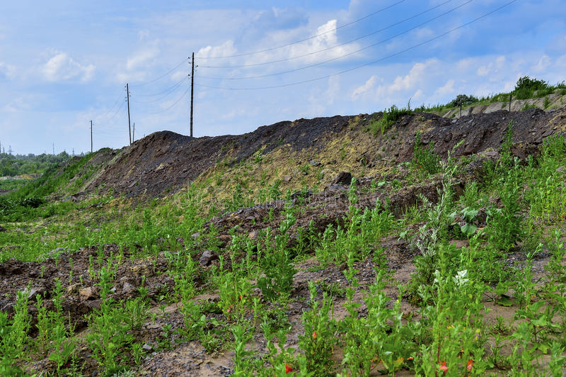 Produkcja teren z drogą i skałami zdjęcie royalty free