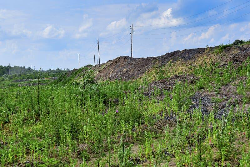 Produkcja teren z drogą i skałami obrazy stock