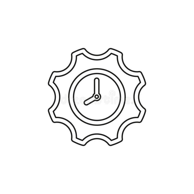 Produkcji zegarowa ikona, produkcji proces planowania ilustracja wektor