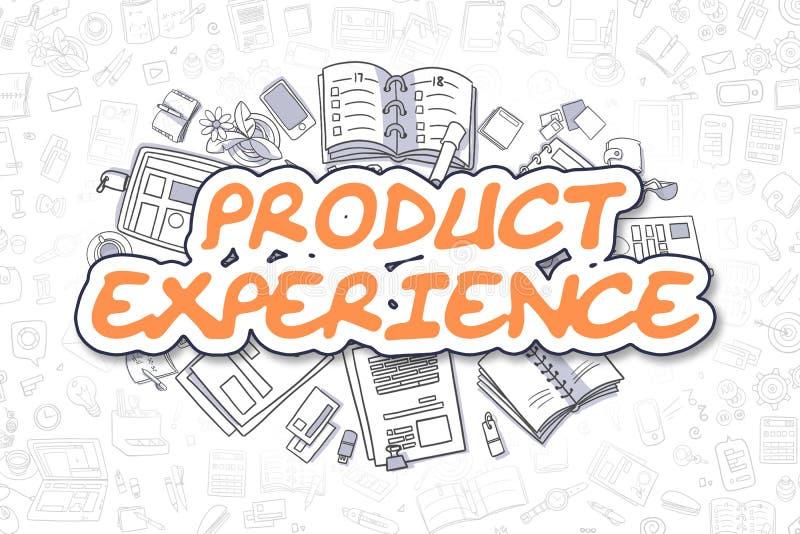 Produkt-Erfahrung - Karikatur-Orangen-Wort Die goldene Taste oder Erreichen für den Himmel zum Eigenheimbesitze stock abbildung