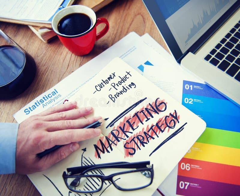 Produkt för kund för marknadsföringsstrategi som brännmärker begrepp royaltyfri foto