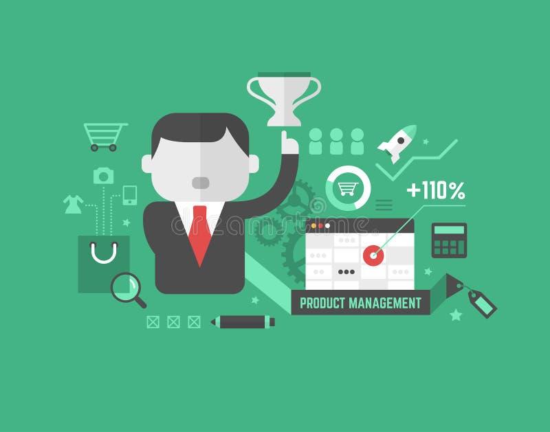 Produkt-Förderung. Digital-Marketing und -Werbekonzeption stock abbildung