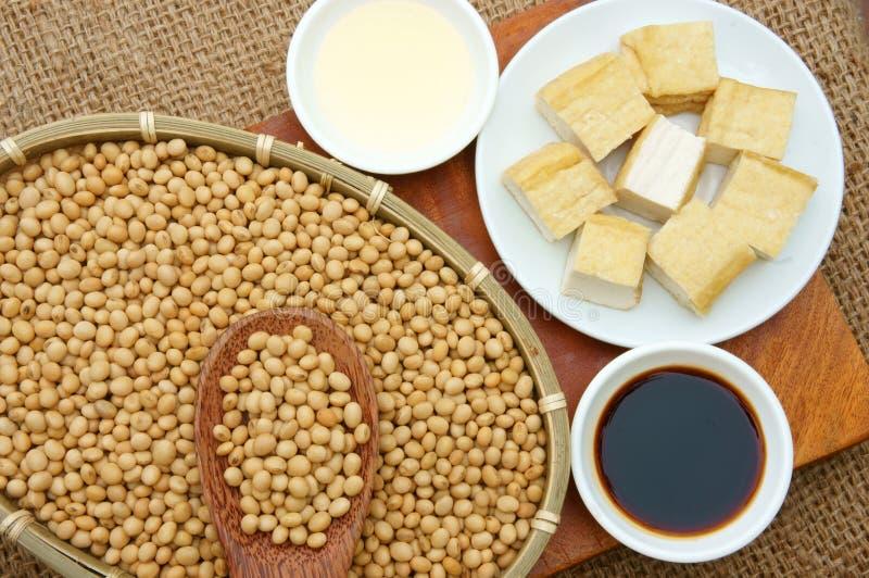Produkt från sojabönan royaltyfri bild