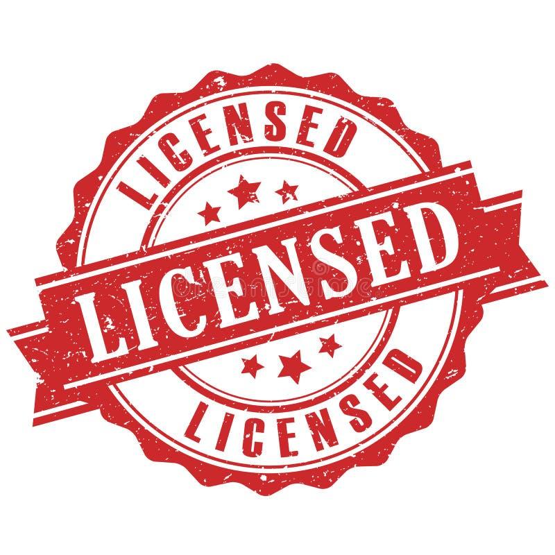 Produkt onder licentiezegel royalty-vrije illustratie
