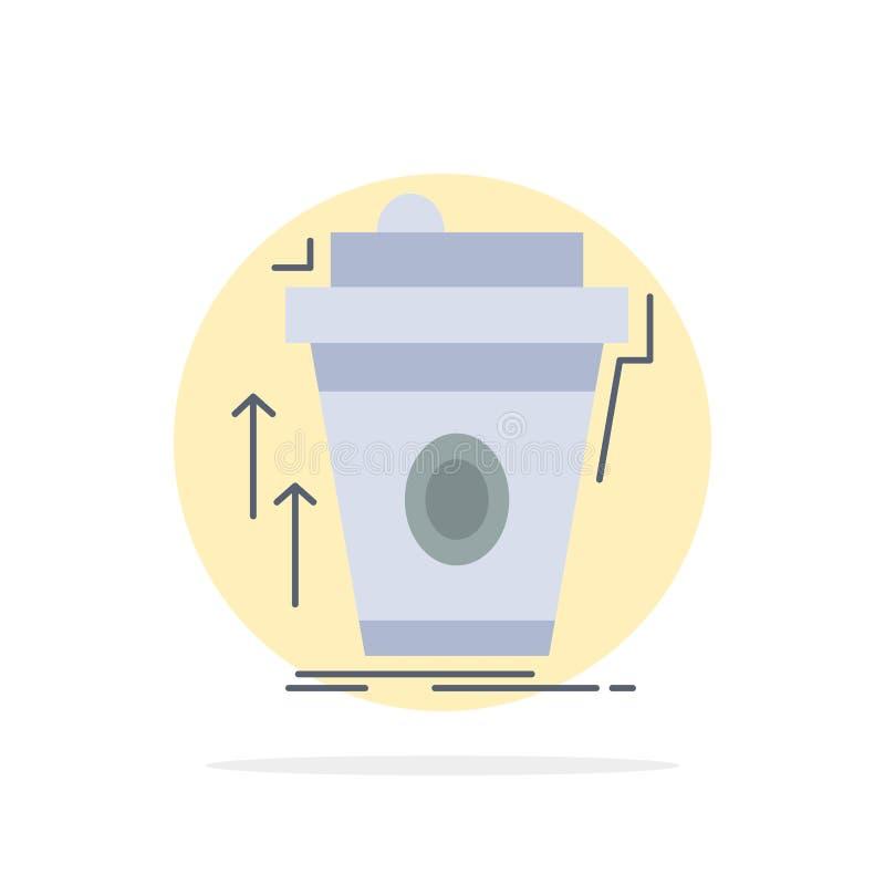 produkt promo, kaffe, kopp, vektor för symbol för färg för märkesmarknadsföring plan stock illustrationer
