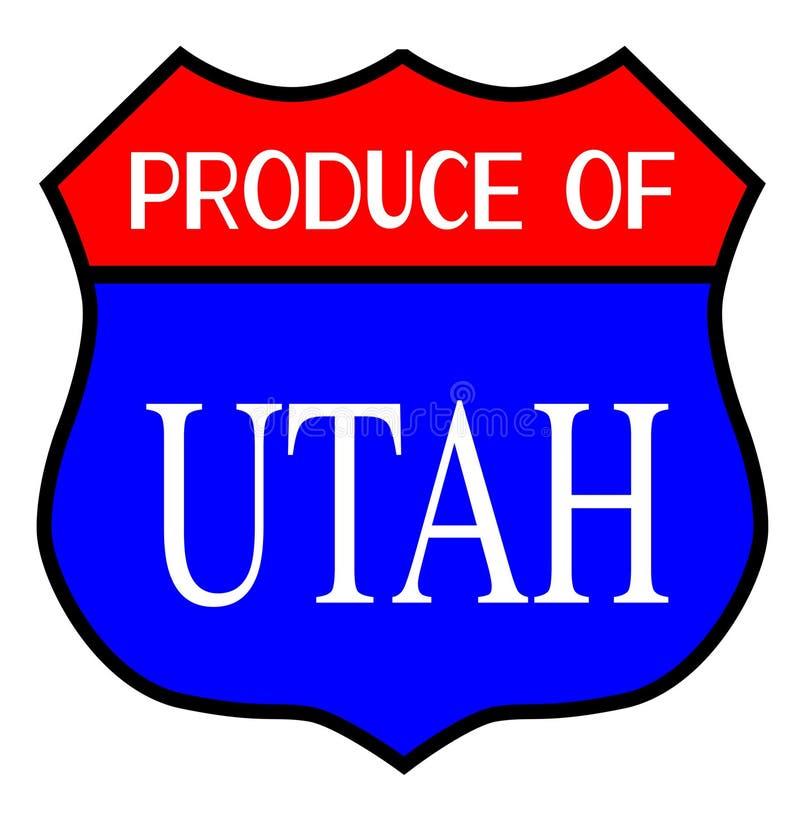 Produkt spożywczy Utah stan ilustracji