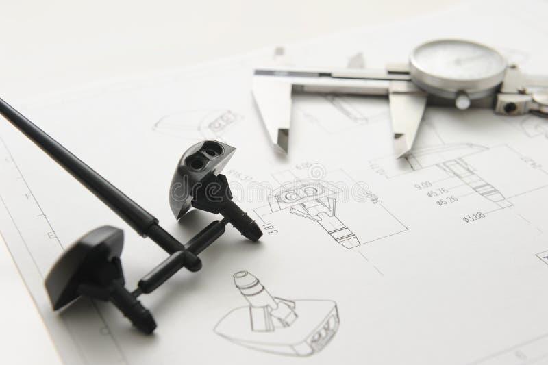 Produkt und Zeichnung lizenzfreies stockbild