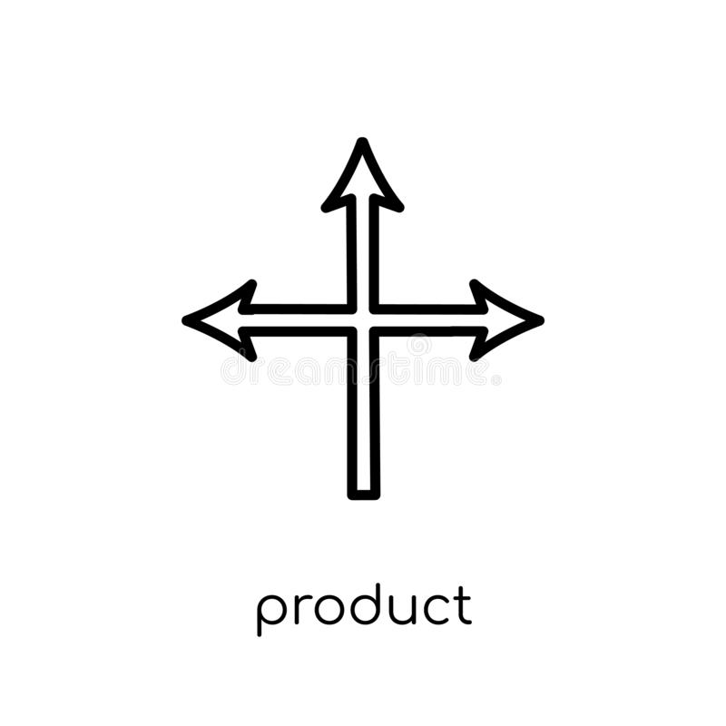 Produkt Ustawia ikonę Modny nowożytny płaski liniowy wektorowy Produ royalty ilustracja
