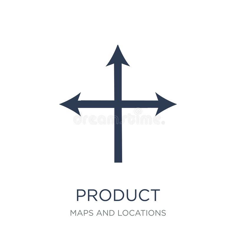 Produkt Ustawia ikonę Modny płaski wektorowego produktu Ustawiać ilustracji