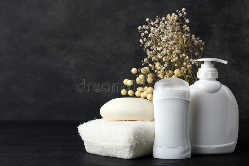 Produkte der persönlichen Hygiene stockbild