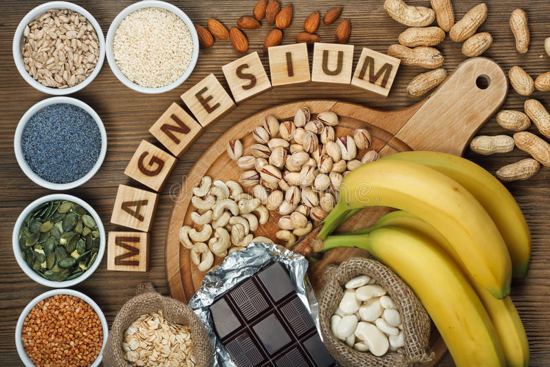 Produkte, die Magnesium enthalten lizenzfreie stockfotos