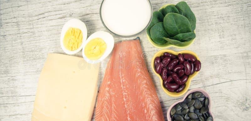 Produkte, die viel Vitamin D enthalten Abschluss oben stockbilder