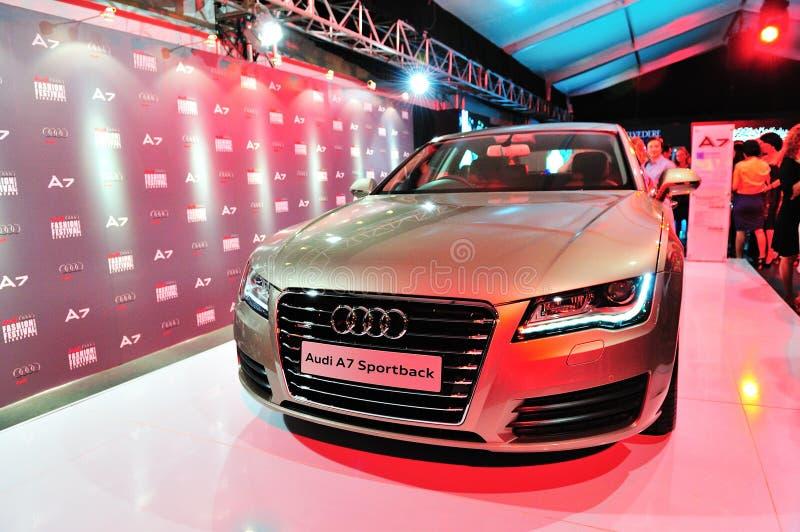 Produkteinführung neuen sportback Audis A7 bei Audi Fashion Festival 2011 lizenzfreies stockfoto