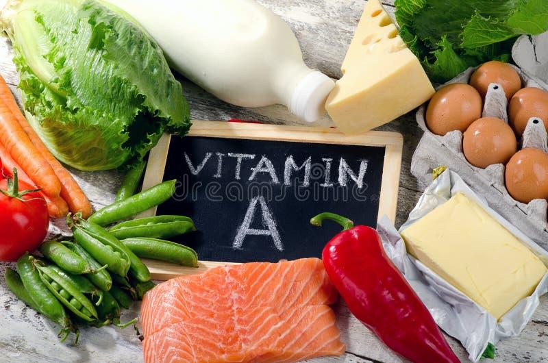 Produkter som är rika i vitamin A royaltyfri foto