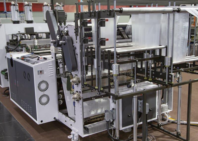 Produktion av plastpåsen, Extruder arkivfoto
