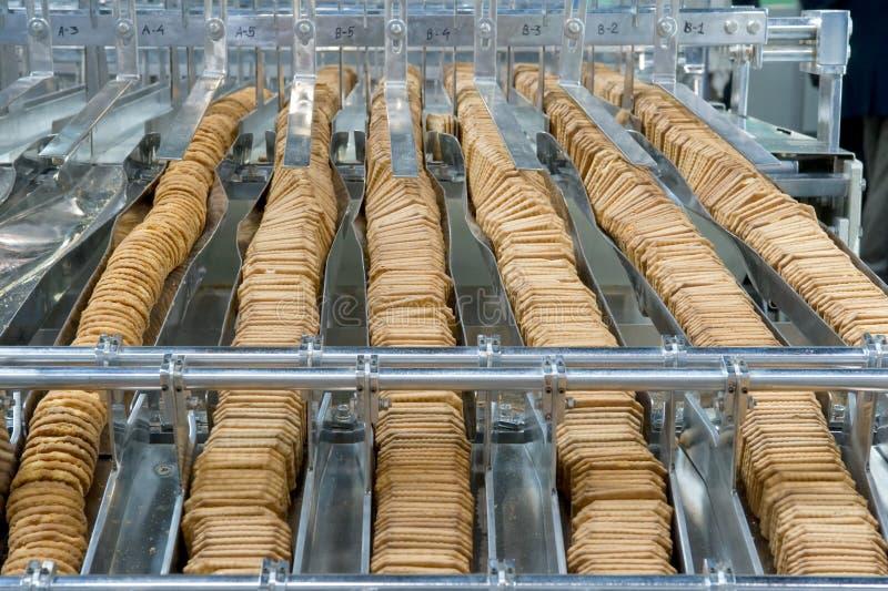 Produktion der Biskuite lizenzfreies stockfoto