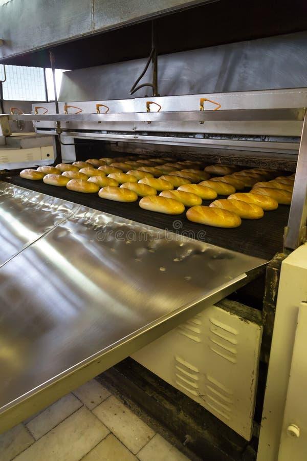 Produktion des Brotes in der Fabrik lizenzfreies stockbild