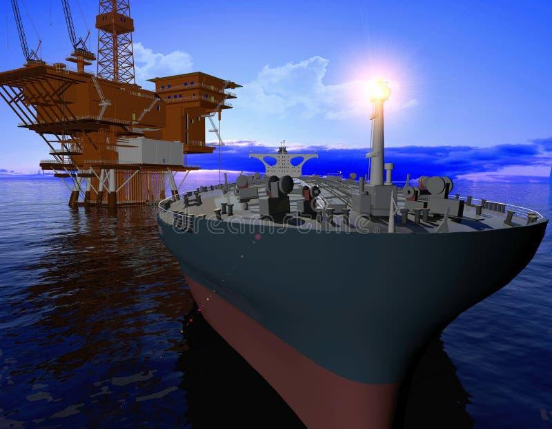 Produktion des Erdöls lizenzfreie abbildung